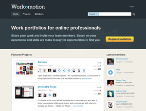 Workomotion - professional network & work portfolio